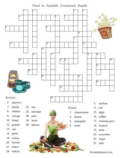 free printable food words in puzzle worksheets and