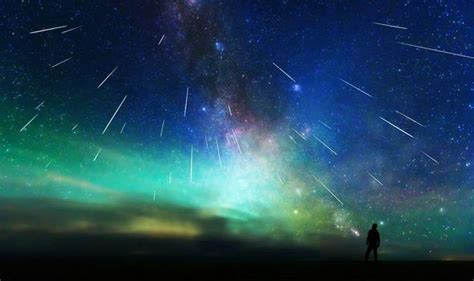 perseid meteor shower  hundreds  meteors  light