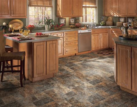 kitchen floor ideas with cabinets top kitchen flooring options for small and big space