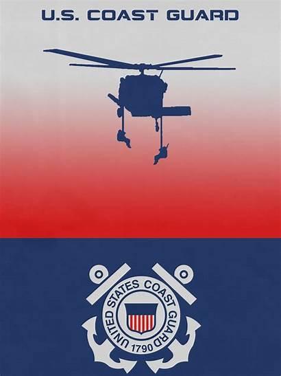 Coast Guard Military Windows Minimalist Branch Oc