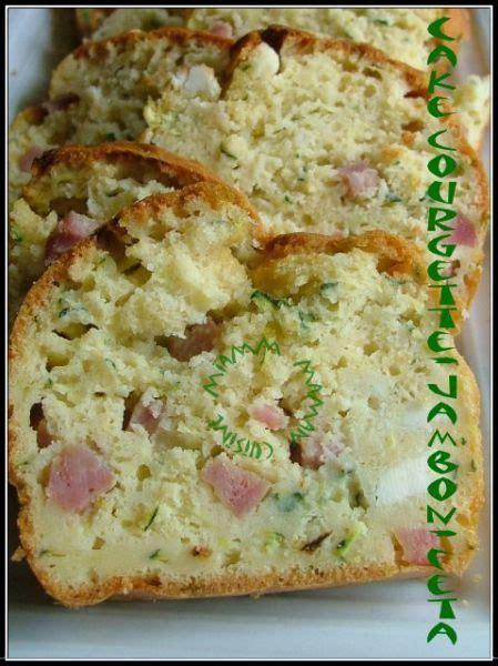 cake ultra moelleux aux courgettes jambon feta recette