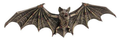 steampunk bat wall plaque steampunk gifts collectibles