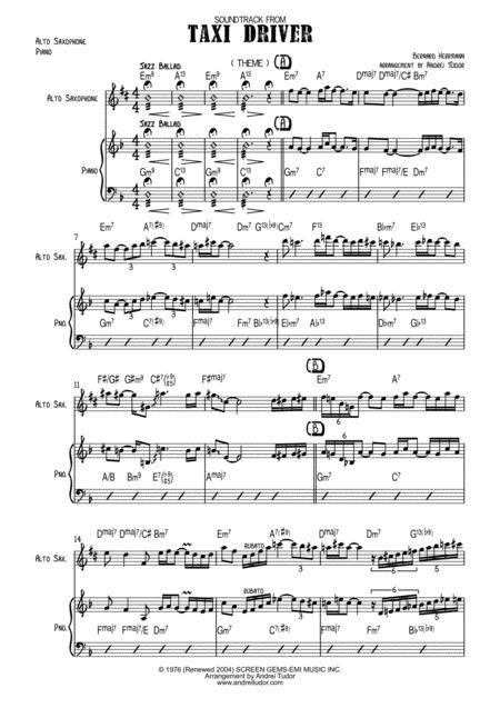 Find other bbc sherlock : Taxi Driver Theme Alto Saxophone And Piano Music Sheet Download - TopMusicSheet.com