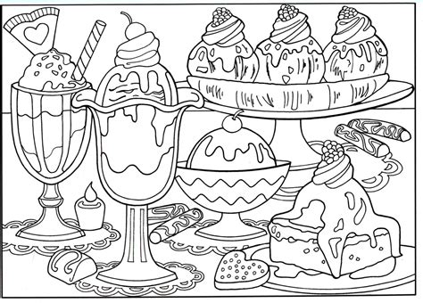 New Cartoon Food Coloring Pages Gallery