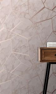 Fine Decor Fractal Marble Wallpaper - FD42264 -Rose Gold