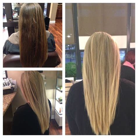 Before And After From Brown To Blonde With Avedas New