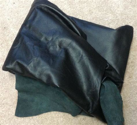 Leather Cowhide Fabric by A4 Leather Cow Hide Cowhide Upholstery Craft Fabric Black