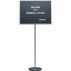 Quartet adjustable single pedestal letter board qrt7921m for Changeable letter board hobby lobby