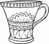Coloring Vase Pages Vases Printable Drawing Flowers Line Pottery Adult Flower Colouring Template Greek Adults Clip Appreciation Teacher Clipart Rose sketch template