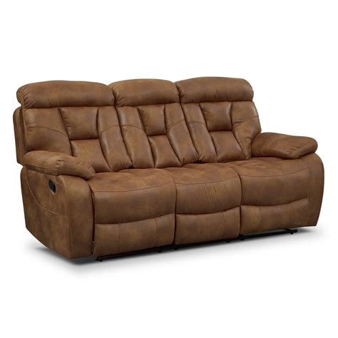 value city furniture recliner sofas dakota ii reclining sofa value city furniture