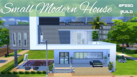 sims  house building small modern house youtube