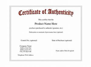 free printable certificate of authenticity templates 28 With free printable certificate of authenticity templates