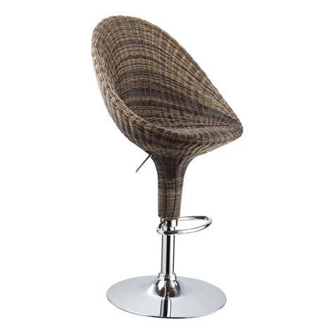 chaise de bar en osier tabouret de bar rotin acier nelly lot de 2 id achat vente tabouret de bar rotin acier