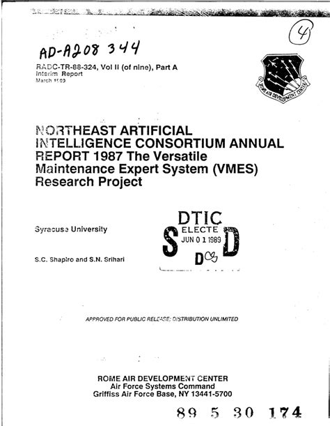 (PDF) Northeast Artificial Intelligence Consortium Annual
