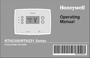 Honeywell Rth221b1039 Operating Manual