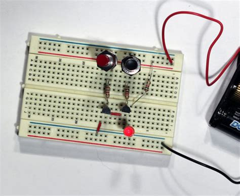 Electronics Projects How Create Transistor Nand Gate