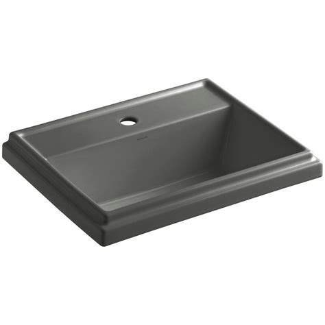 kohler thunder grey sink kohler tresham drop in vitreous china bathroom sink in