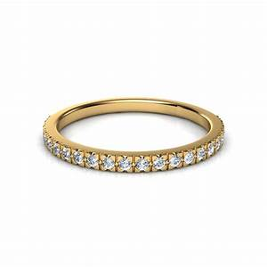 022 ct french cut pave diamond wedding band With pave wedding rings
