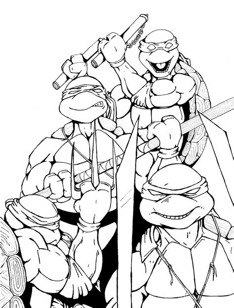 106 Dessins De Coloriage Tortue Ninja Imprimer Sur