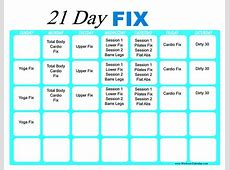 21 Day Fix Workout Calendar Print A Workout Calendar