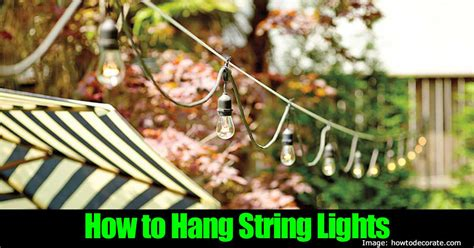 how to string lights outside how to install and hang outdoor string lights