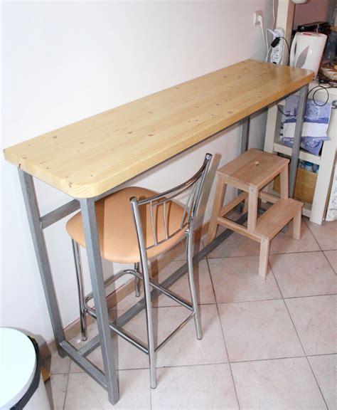 table basculante cuisine création d 39 une table bar cuisine bâtir sa maison à