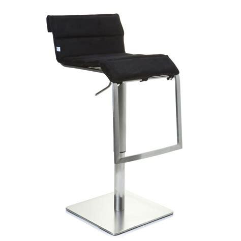 chaise de bar noir tabouret de bar chaise haute zeta tissu noir achat