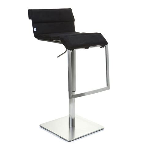 chaise de bar cdiscount tabouret de bar chaise haute zeta tissu noir achat