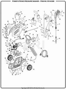 Homelite Ps14120b 1600 Psi Pressure Washer Mfg  No