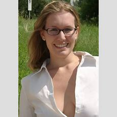 Blonde Girl With Glasses In Field With Open Blouse Showing Off Cleavage!  A Photo On Flickriver