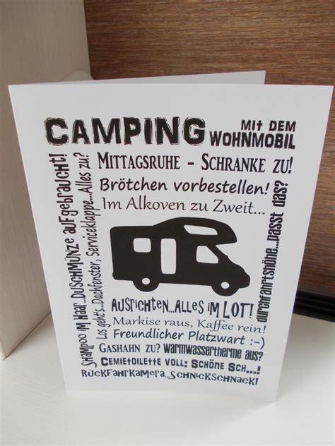 geschenkkarte wohnmobil das eselspiel und die camping