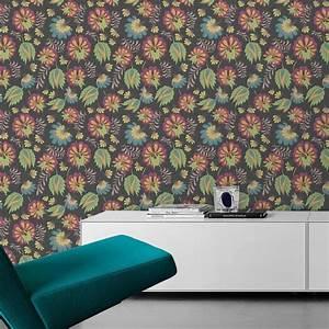 Tapete Grau Grün : ausgesprochen edle tapete mit gro en bl ten in grau gr n angepasst an little greene wandfarbe ~ Eleganceandgraceweddings.com Haus und Dekorationen