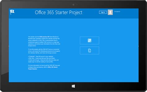 Office 365 Project by Office 365 Apis Starter Project For Windows を公開 Office Blogs