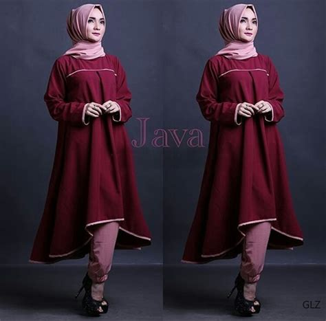 Joyagh Tunik Pashmina jual setelan busana muslimah baju tunik celana jilbab