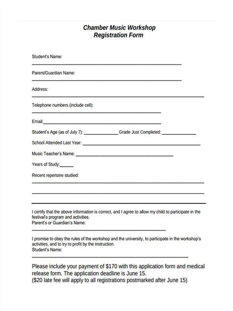 Sle Workshop Registration Form Template by Workshop Registration Forms 11 Free Documents In Word Pdf