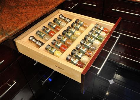 kitchen drawer organizer ideas in drawer spice racks ideas for high comfortable cooking