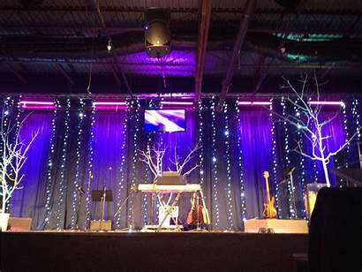 Stage Simple Decoration Lights Church Decorations Concert
