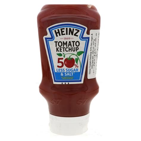 Buy Heinz Tomato Ketchup Less Sugar and Salt 400g Online ...