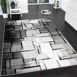 Teppich Grau Modern : designer teppich modern trendiger kurzflor teppich karo muster farbverlauf grau teppiche ~ Whattoseeinmadrid.com Haus und Dekorationen