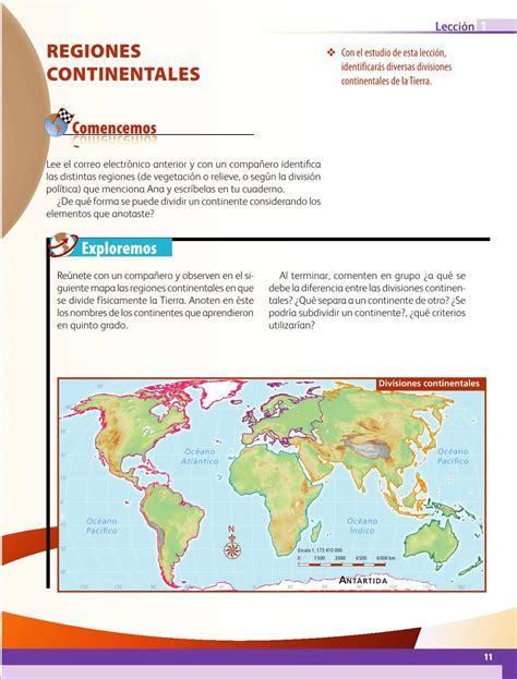 Libro 6 grado primaria contestado 2016. Geografía Sexto grado 2016-2017 - Online - Libros de Texto ...