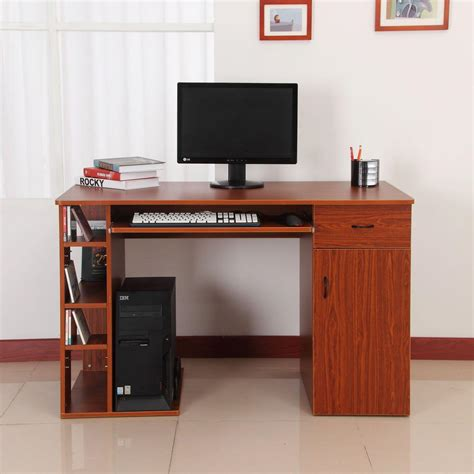 mesa de ordenador guinea en madera color cerezo ofisillases