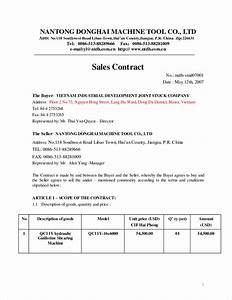 selling a business contract template - sales contract template cyberuse