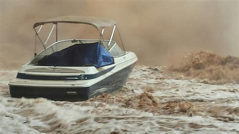 Ksl Classifieds Boats With Motors by Boat Submerged By Flash Flooding At Lake Powell Ksl
