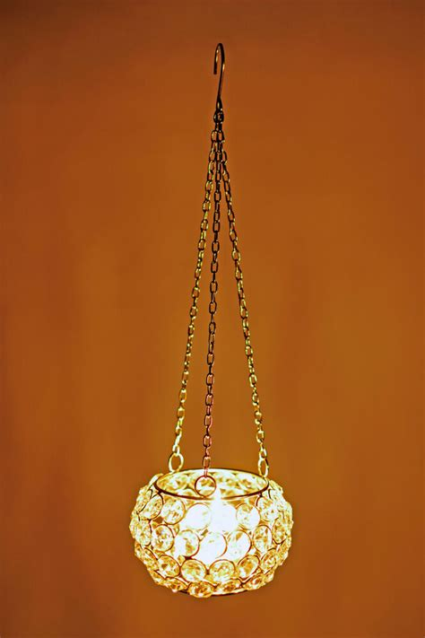 Hanging Candle Holders by Tea Light Candle Holder Globe Beaded Hanging