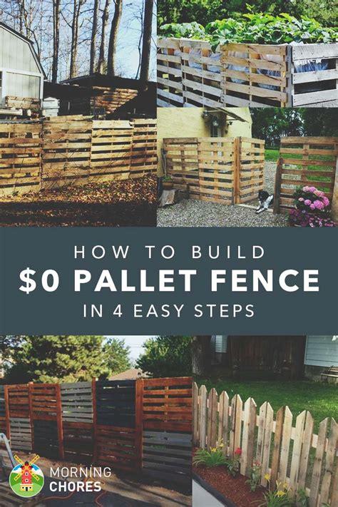 build  pallet fence      plans ideas