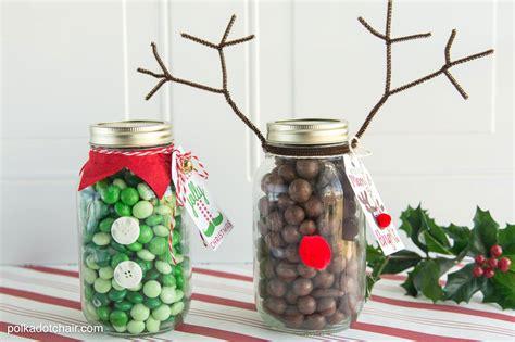 Reindeer Christmas Mason Jar Gift Idea
