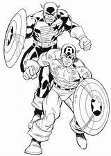 Coloring Daredevil Captain America Marvel Printable Popular Template Coloringhome sketch template