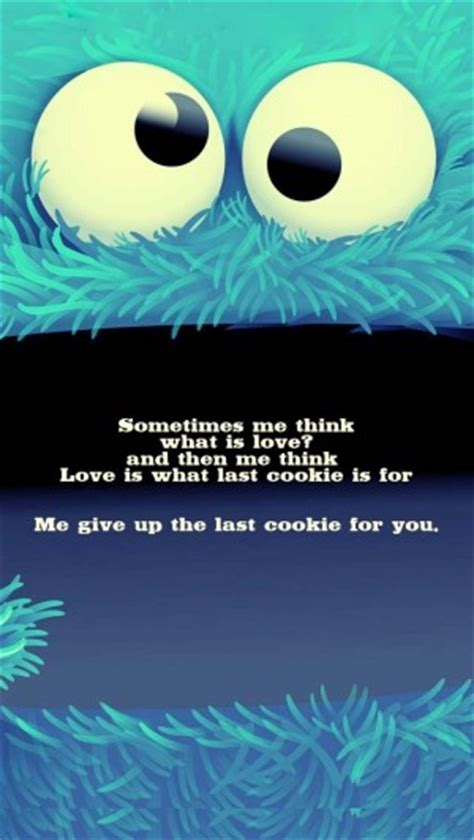 cookie monster quotes  sayings quotesgram