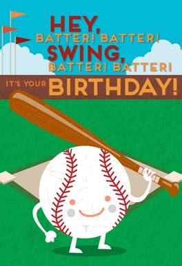 baseball batter  birthday card  island