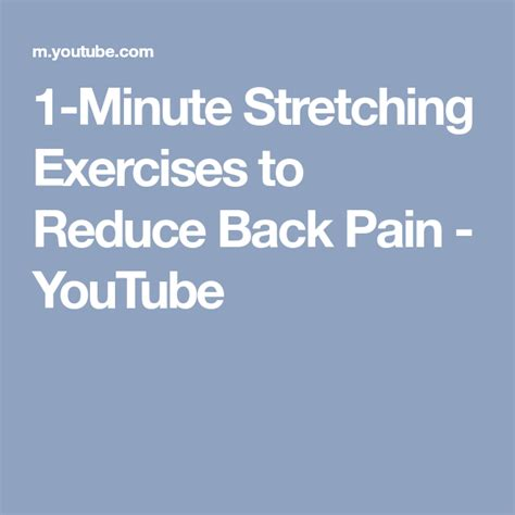 Pin on Exercise/Stretch to relieve back pain
